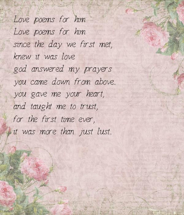love poems when first meet you