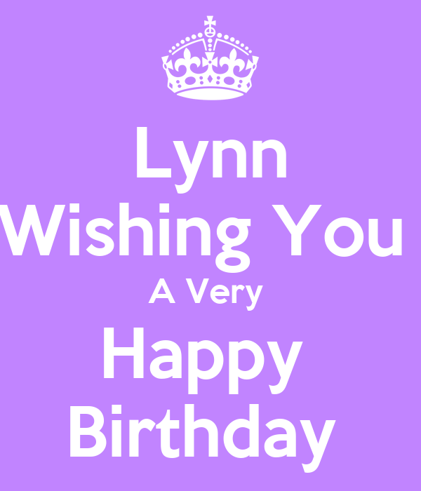 Lynn Wishing You A Very Happy Birthday Poster Clare