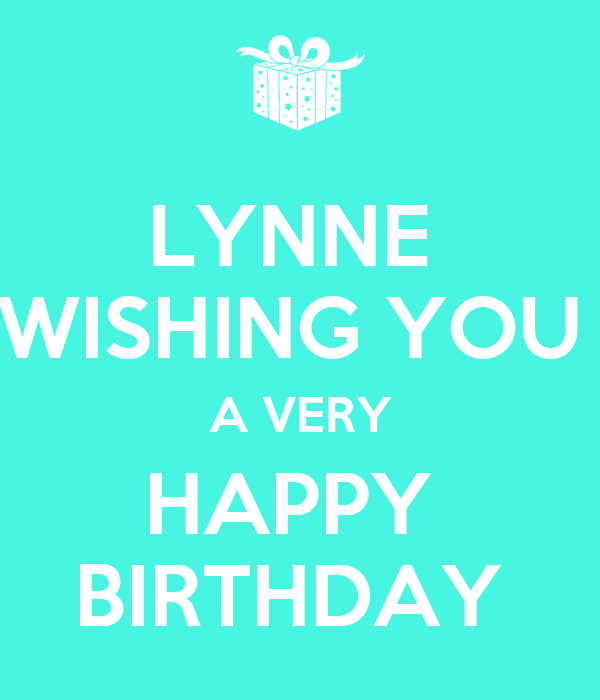 Lynne Wishing You A Very Happy Birthday Poster Clare