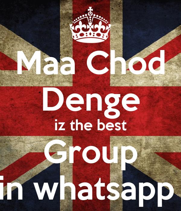 Maa Chod Denge iz the best Group in whatsapp Poster | Rohit | Keep ...