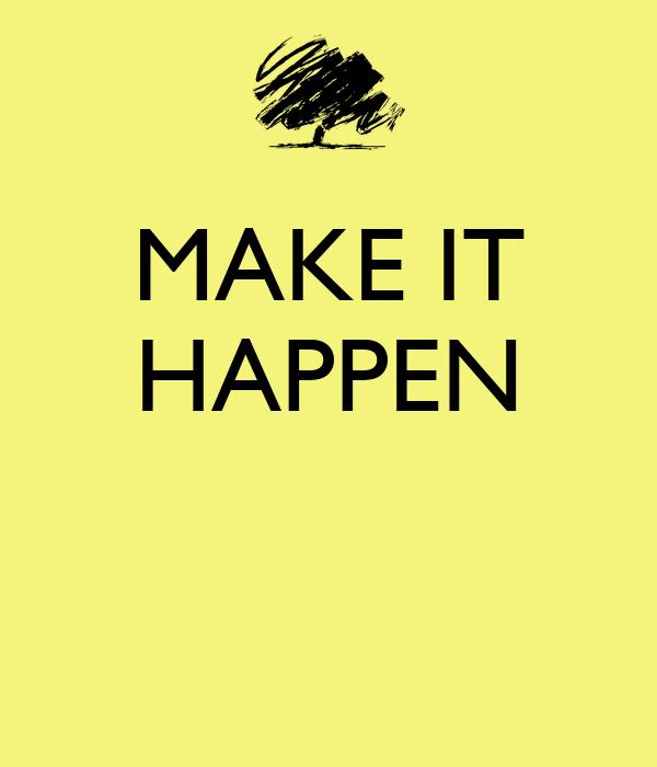 You Can Make It Happen Pdf