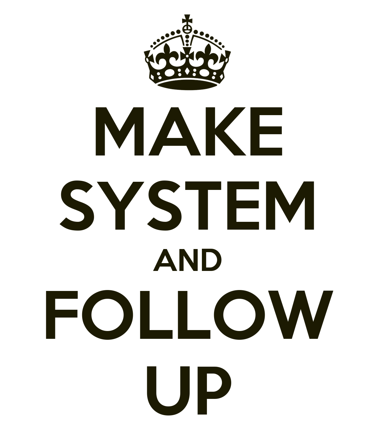 how to create a follow up system
