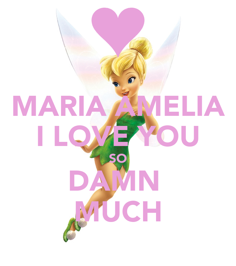 MARIA AMELIA I LOVE YOU SO DAMN MUCH Poster