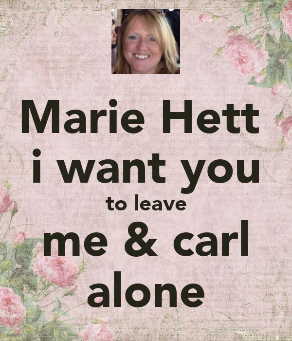 Marie Hett i want you ...