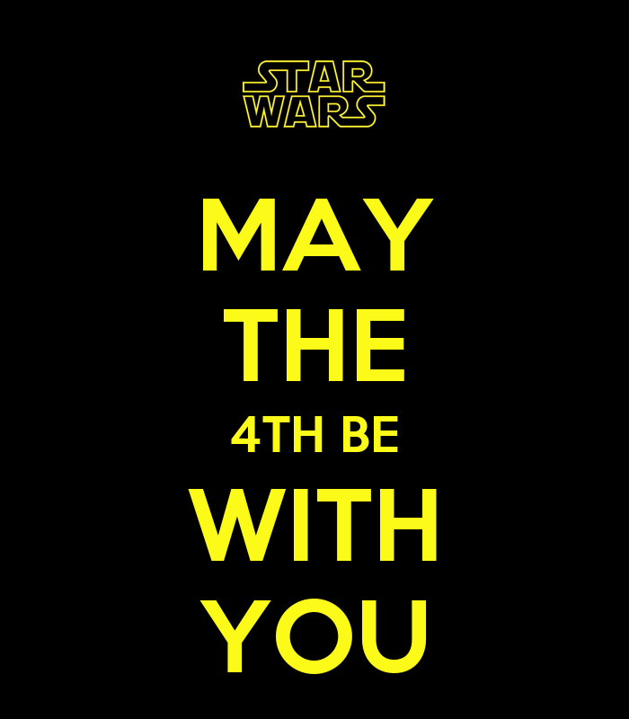 How To Respond To May The 4th Be With You: MAY THE 4TH BE WITH YOU Poster