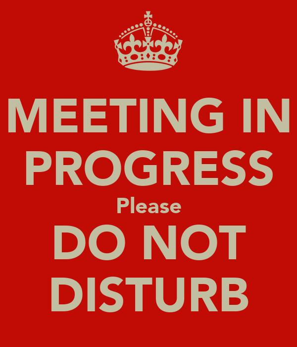 Meeting In Progress Please Do Not Disturb Poster Neveen