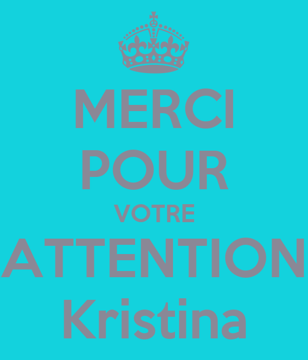 Merci Pour Votre Attention Kristina Poster Kristina K Keep
