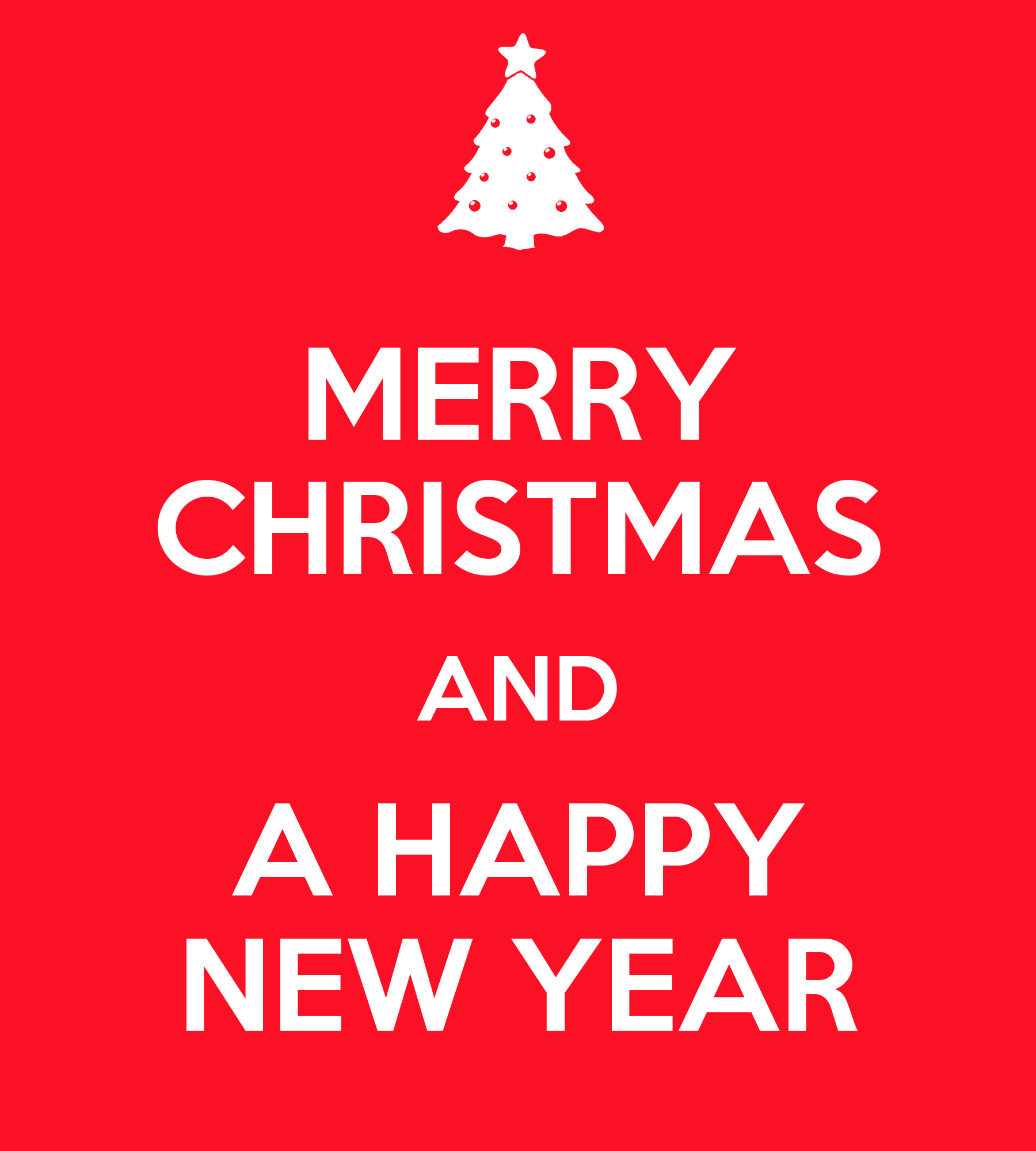 Keeping Christmas All The Year: MERRY CHRISTMAS AND A HAPPY NEW YEAR Poster