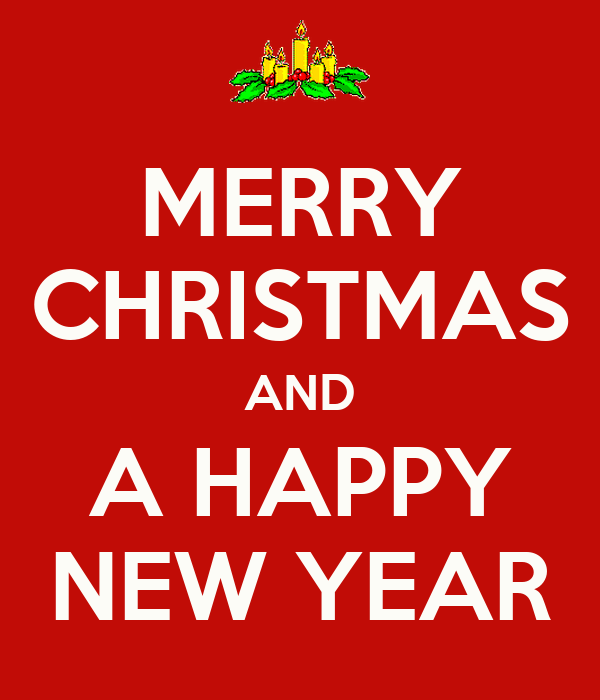 Merry christmas and a happy new year keep calm and carry for Why is it merry christmas and not happy christmas