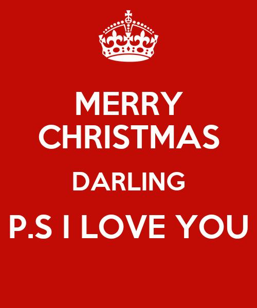 Merry christmas darling p s i love you poster sara