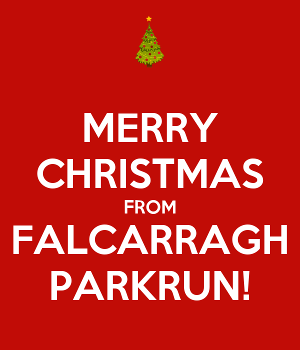 Christmas Parkrun.Merry Christmas From Falcarragh Parkrun Poster
