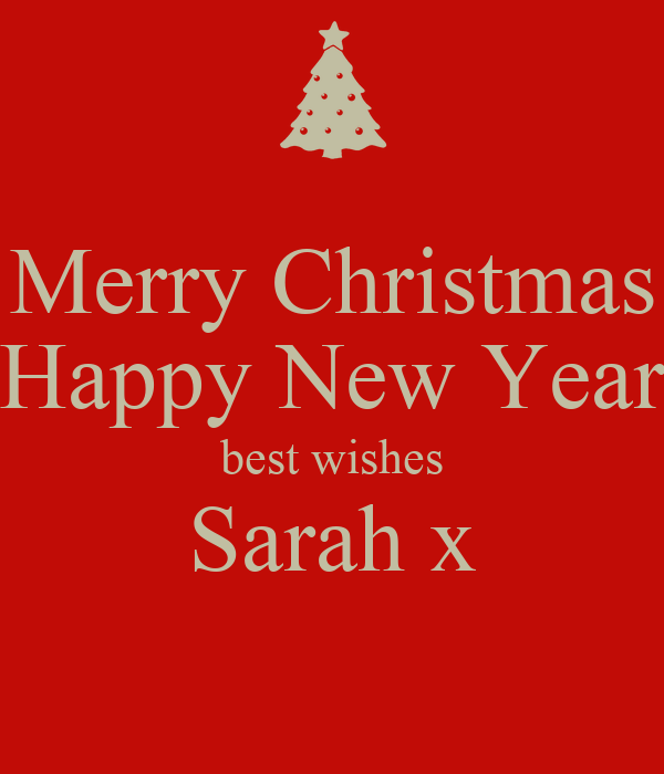 Merry Christmas Happy New Year best wishes Sarah x Poster | Sarah ...
