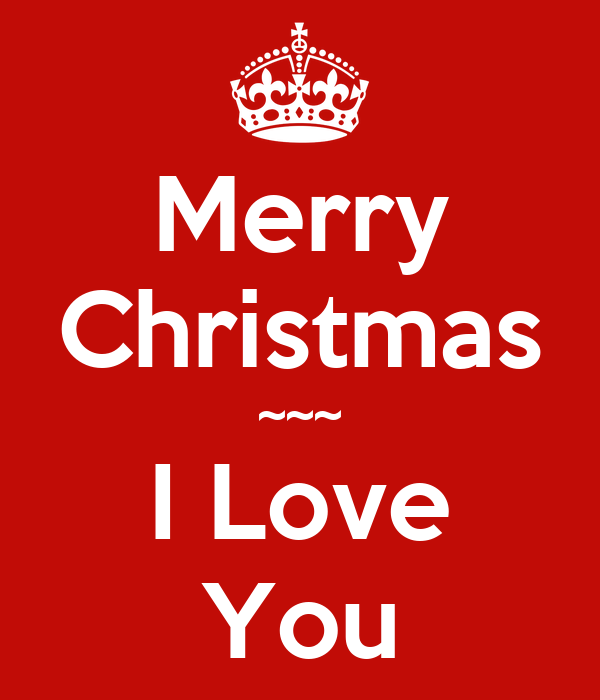Merry christmas i love you poster elizabeth keep