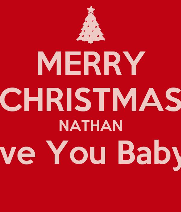 i Love Nathan Wallpaper Merry Christmas Nathan i Love