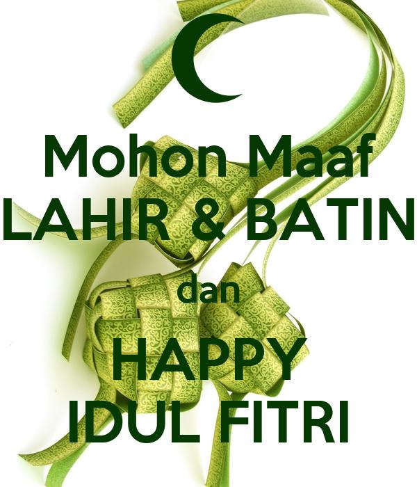 Mohon Maaf LAHIR & BATIN Dan HAPPY IDUL FITRI Poster