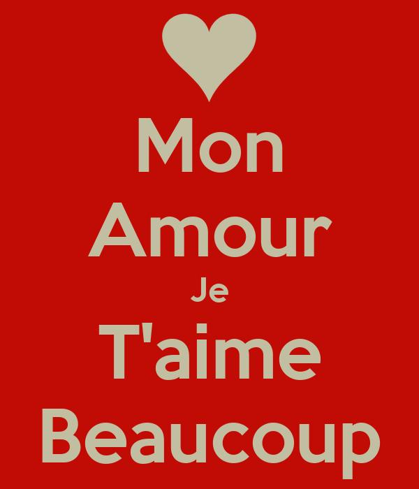Mon Amour Je Taime Beaucoup Poster Cedric Keep Calm O Matic