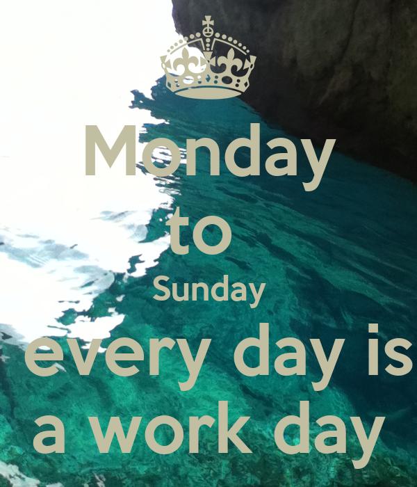 Everyday is not sunday essay
