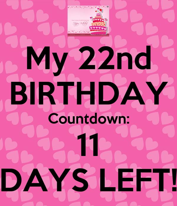 My 22nd BIRTHDAY Countdown: 11 DAYS LEFT! Poster | Nikki