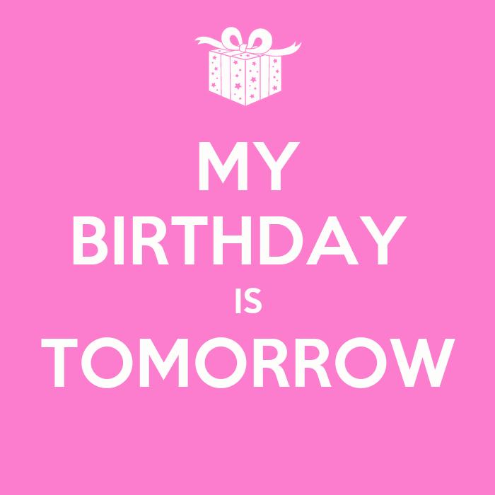 tomorrows birthday