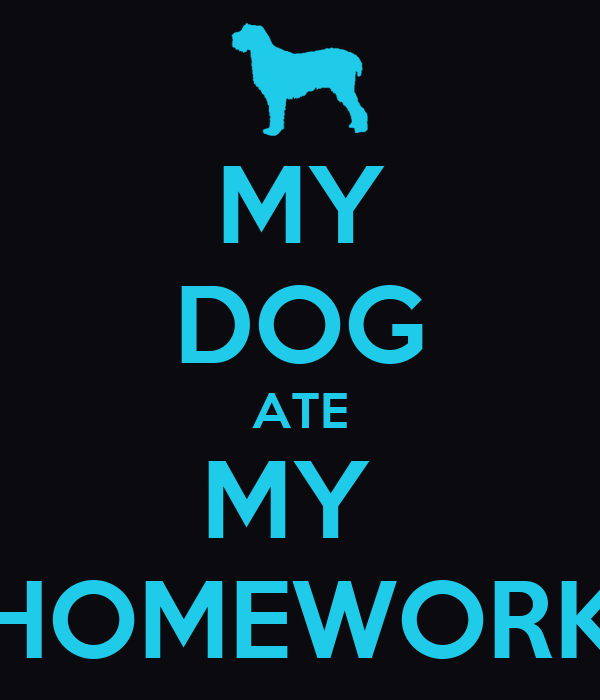 my dog ate my homework