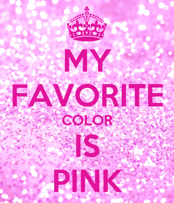 my favorite color is pink poster sara keep calm o matic. Black Bedroom Furniture Sets. Home Design Ideas
