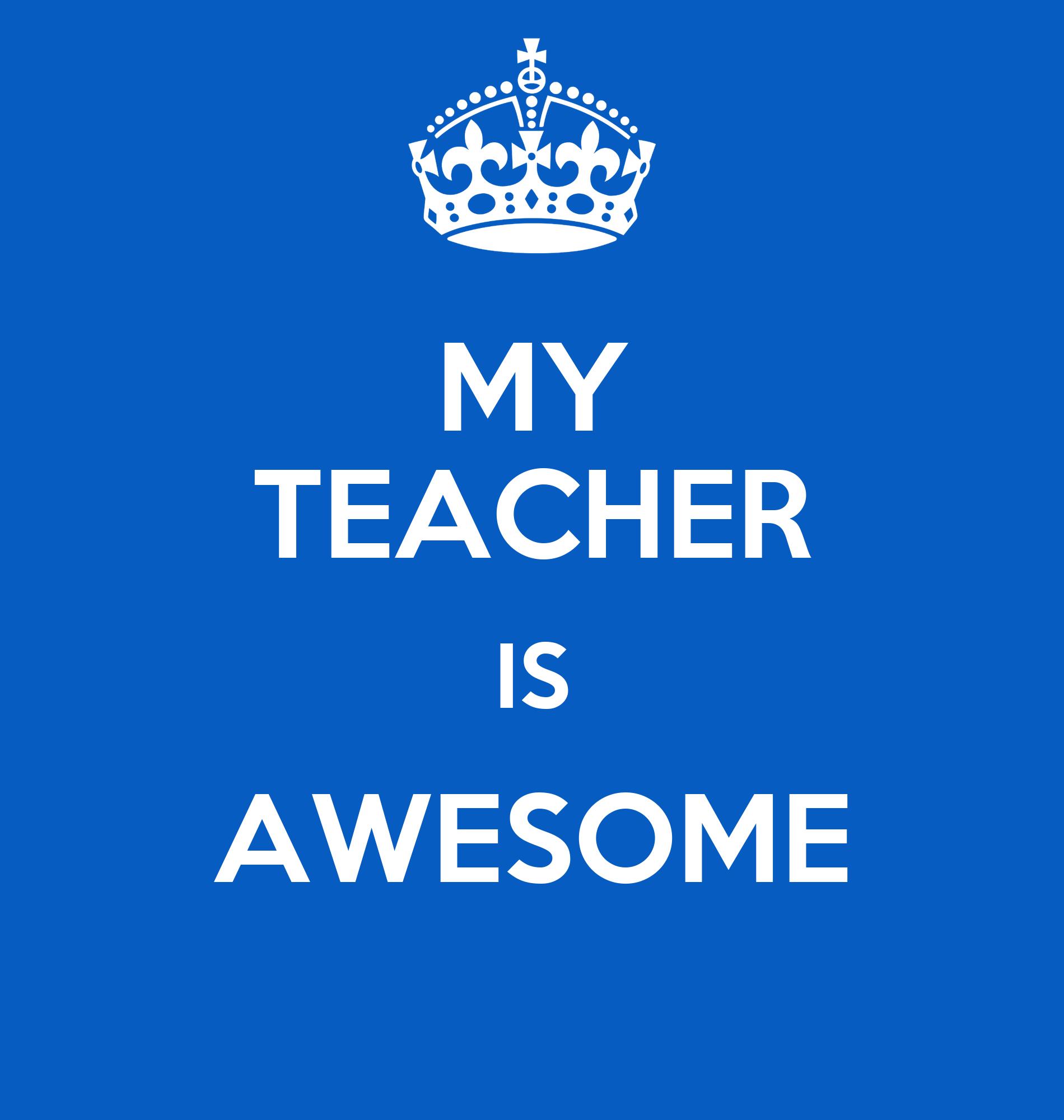 My teacher is a bitch