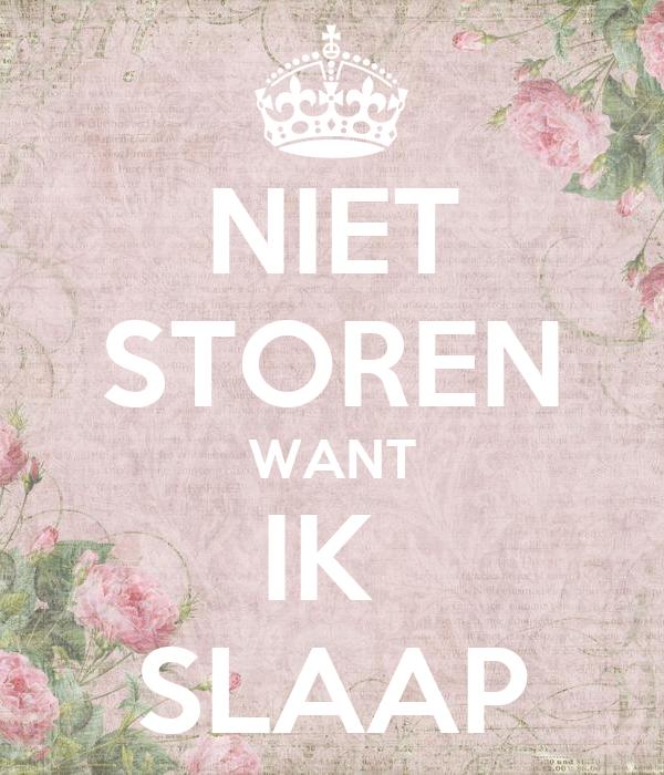 Niet Storen Want Ik Slaap Poster Fdsv Keep Calm O Matic