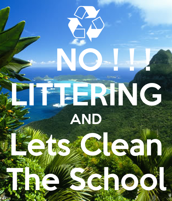 school littering The clean schools program aims at changing the littering behaviour of students  through a whole school approach to litter prevention and a range of resources.