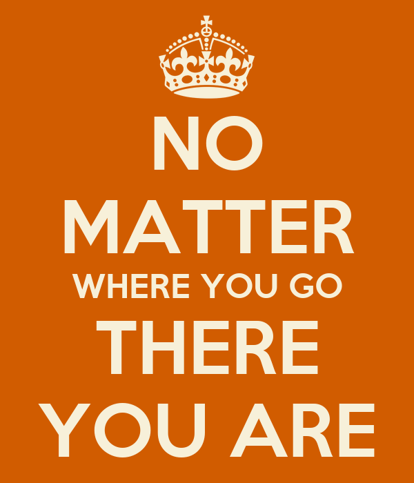 No Matter Where You Are Quotes: The Non Sequitur Quote Thread
