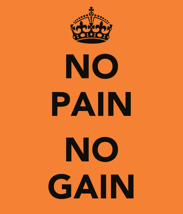 NO PAIN NO GAIN Poster | alan