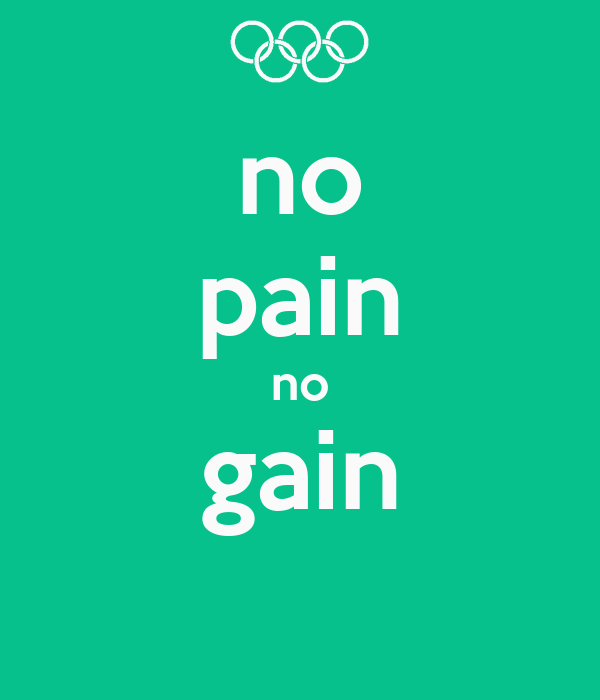 no pain no gain Poster | hannah