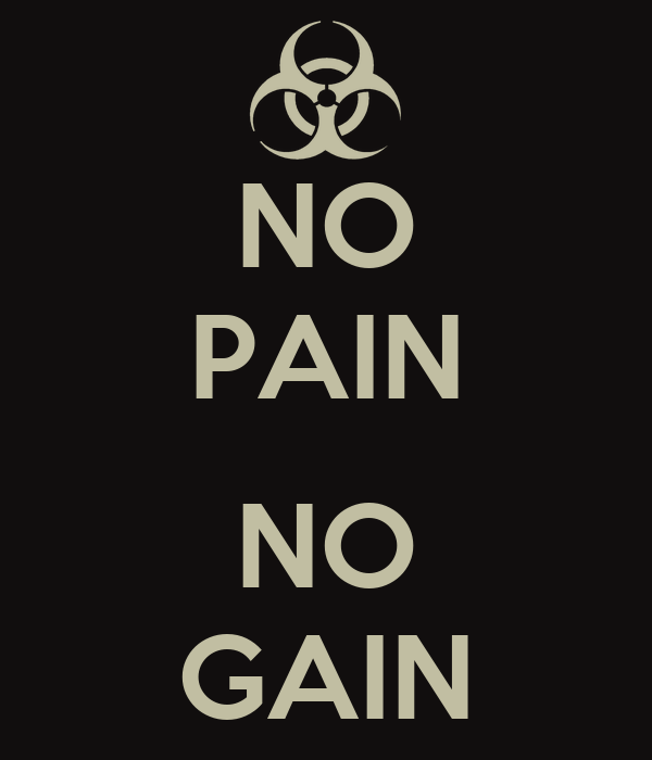 NO PAIN NO GAIN Poster | s king