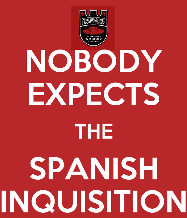 Nobody Expects The Spanish Inquisition Wallpaper Nobody Expects The Spanish
