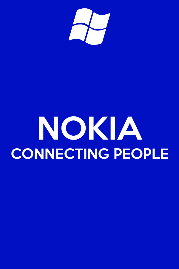 NOKIA CONNECTING PEOPLE Poster