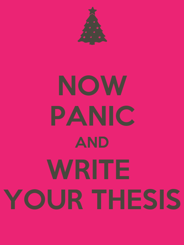 Write thesis now