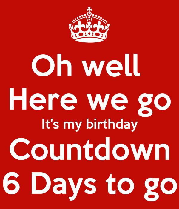 Countdown  6 Days To Go  amateur adventurer