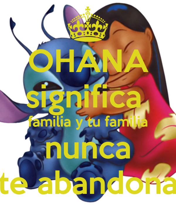 Ohana Significa Familia Y Tu Familia Nunca Te Abandona Poster