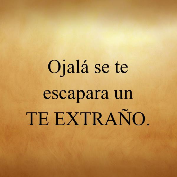 Ojalá Se Te Escapara Un TE EXTRAÑO. Poster