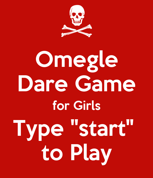 Girls play omegle game