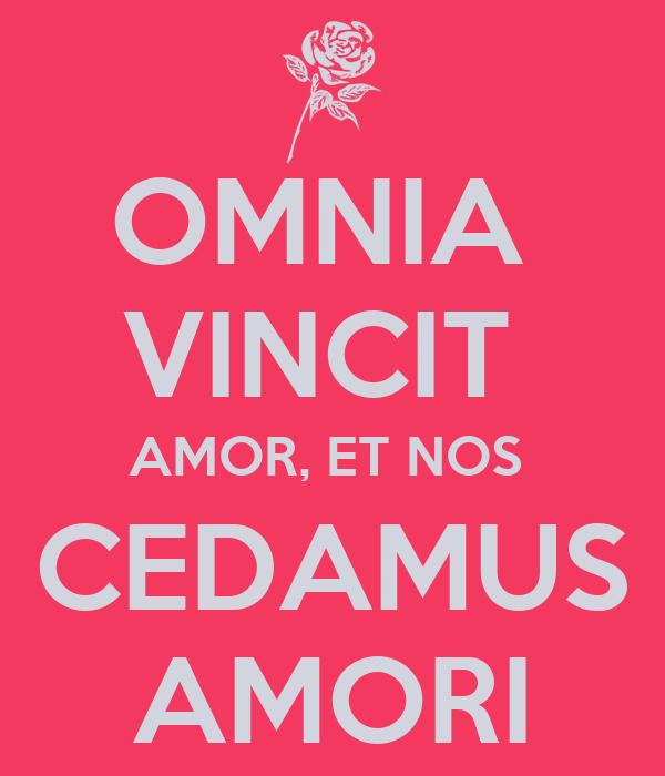 omnia vincit amor et nos cedamus amori poster b ub. Black Bedroom Furniture Sets. Home Design Ideas