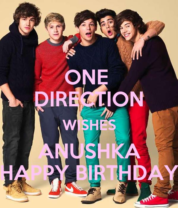 ONE DIRECTION WISHES ANUSHKA HAPPY BIRTHDAY Poster SK1 – One Direction Birthday Greeting