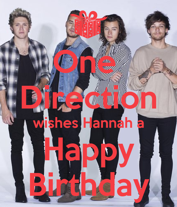 One Direction wishes Hannah a Happy Birthday Poster – One Direction Birthday Greeting