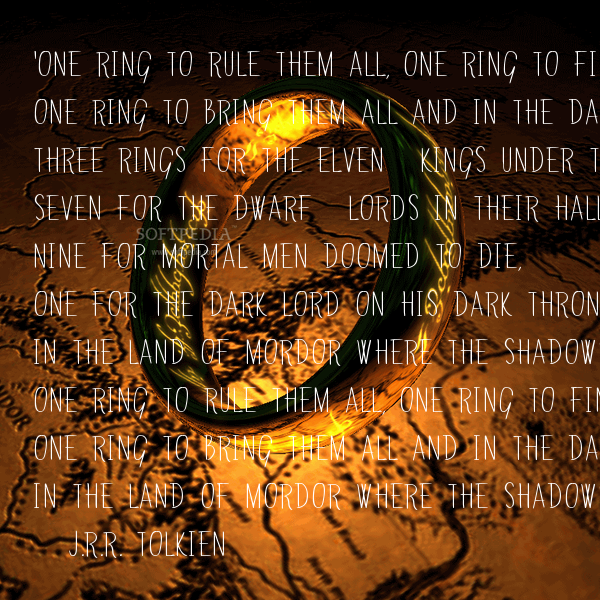 One Right To Rule Them All One Ring To Find Them One: 'One Ring To Rule Them All, One Ring To Find Them, One