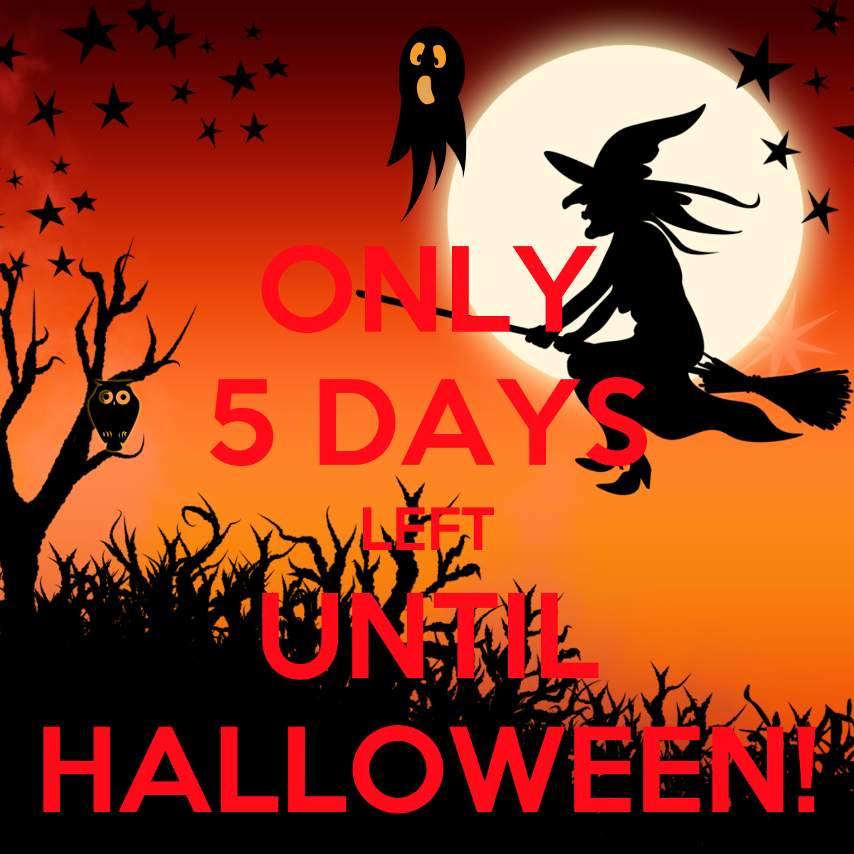 only 5 days left until halloween! poster | d | keep calm-o-matic