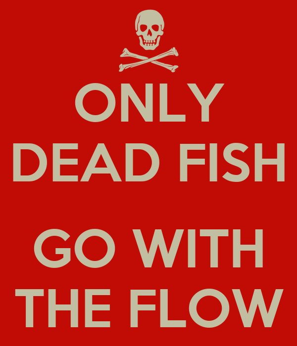 only dead fish go with the flow poster elia keep calm