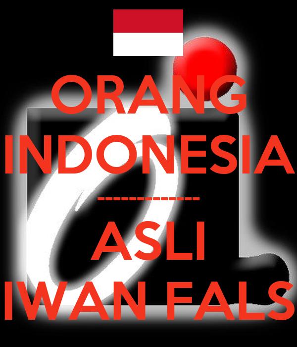 Orang Indonesia Asli Iwan Fals Poster Oi Keep