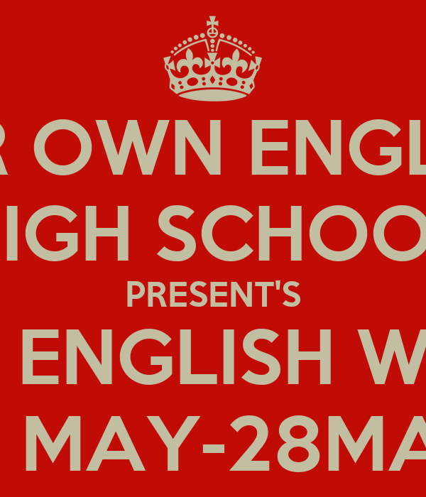 essay report english week poster