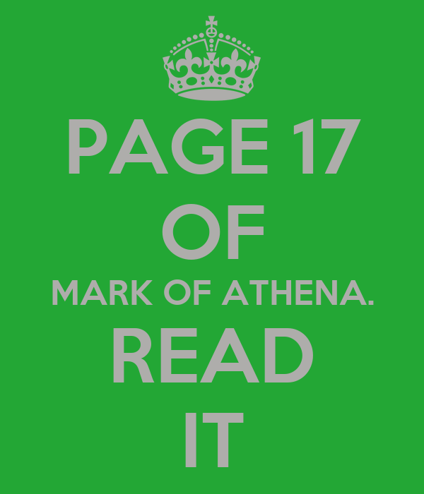 mark of athena one pager I am making a quiz on the mark of athena written by rick riordan i hope you enjoy it and have fun :d (author pandafury.
