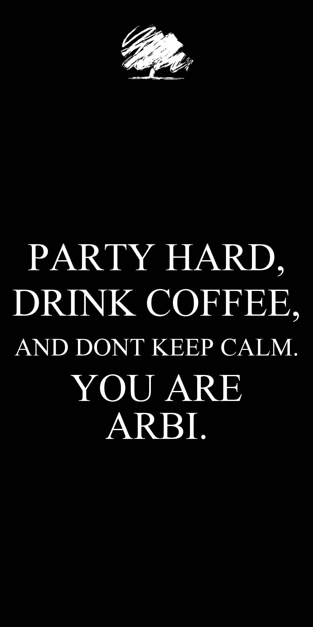 Keep Calm And Party Hard Wallpaper