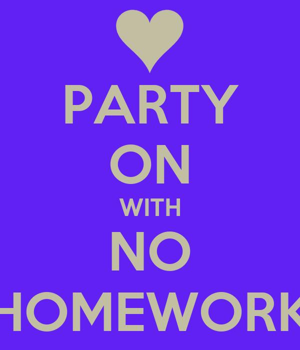 No homework in school